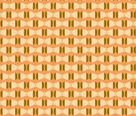 Peach Bow fabric by kelsey_joronen on Spoonflower - custom fabric