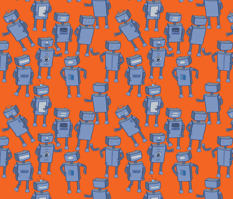 We are the Robots fabric by yourfriendamy on Spoonflower - custom fabric