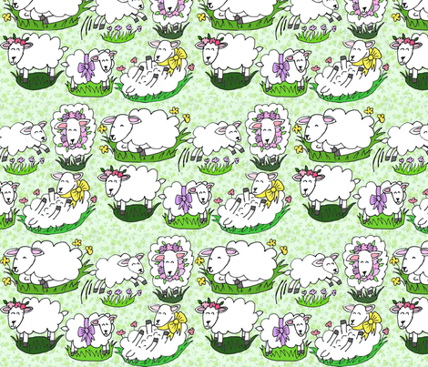 Glam Lamb fabric by graceful on Spoonflower - custom fabric