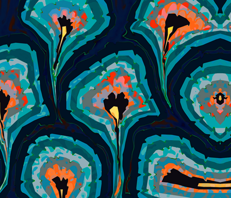 venetian peacock a fabric by zula on Spoonflower - custom fabric