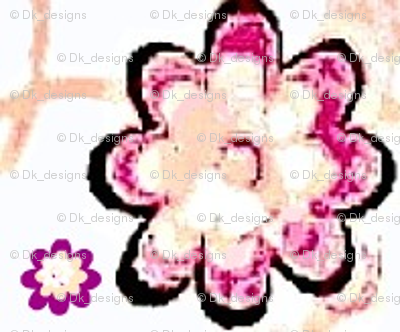 Floral pink and purple flowers 21