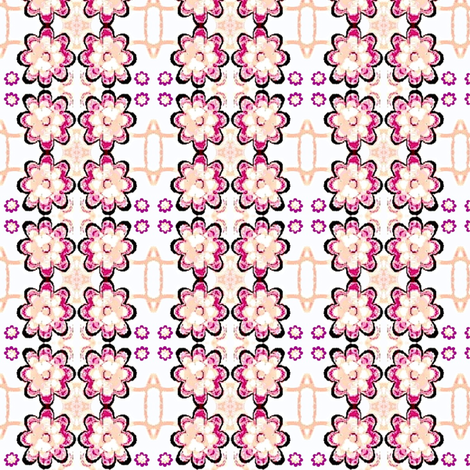 Floral pink and purple flowers 21 fabric by dk_designs on Spoonflower - custom fabric
