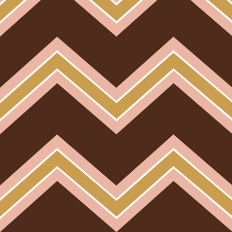 Chevron / coco, peach, carmel  fabric by paragonstudios on Spoonflower - custom fabric