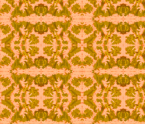 Toffee leaves  on pink fabric by winterblossom on Spoonflower - custom fabric