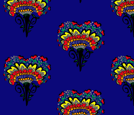 Heart of Africa ©indigodaze2013 fabric by indigodaze on Spoonflower - custom fabric