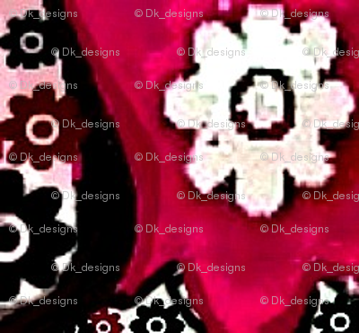 Floral pink and white flowers 001