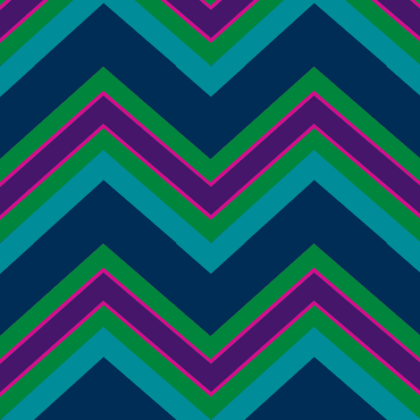 Chevron / peacock fabric by paragonstudios on Spoonflower - custom fabric