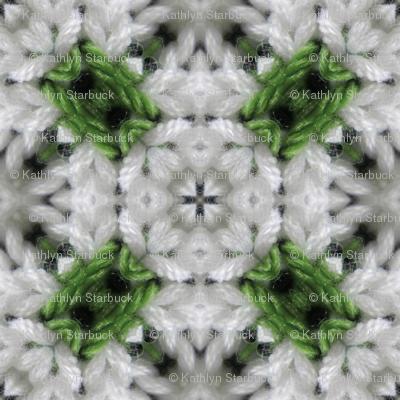 Green and White Polka Dot