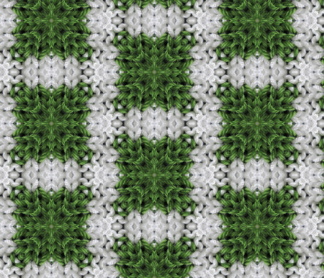 Green and white plaid fabric by kstarbuck on Spoonflower - custom fabric