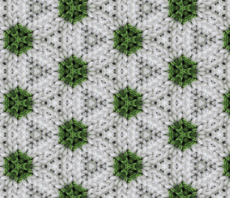 Green and White Polka Dot Round fabric by kstarbuck on Spoonflower - custom fabric
