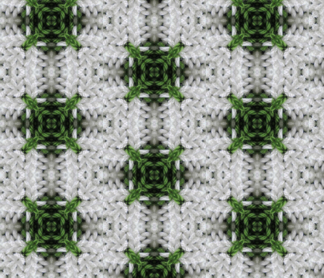 Green and white plaid 02