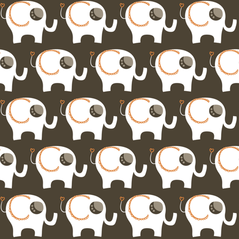 Baby Elephants fabric by natitys on Spoonflower - custom fabric