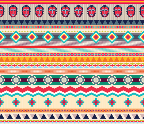 African-Textiles-Design fabric by errozero on Spoonflower - custom fabric