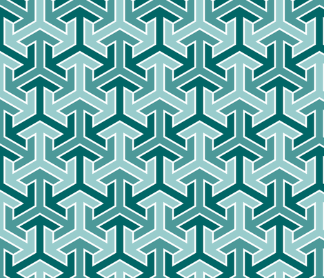 tri-arrow 3 fabric by sef on Spoonflower - custom fabric