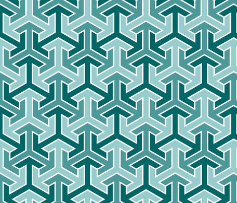 tri-arrow 3 fabric by sef on Spoonflower - custom fabric