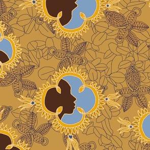 African Visage Autumn Sands
