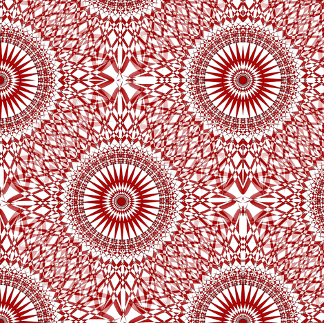 Soft Lace Ornate Wheels - Red fabric by telden on Spoonflower - custom fabric
