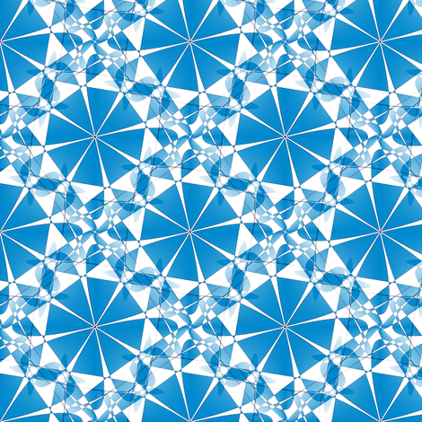 Parasol Kaleidoscope - Blue fabric by telden on Spoonflower - custom fabric