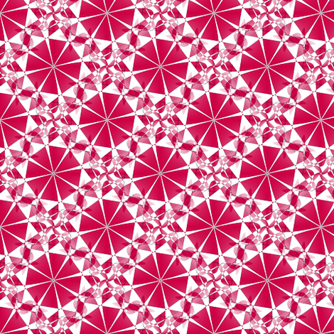 Parasol Kaleidoscope - Red - Small fabric by telden on Spoonflower - custom fabric