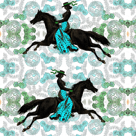 Flamenco Horse fabric by ragan on Spoonflower - custom fabric