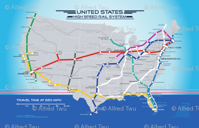United States High Speed Rail System Map