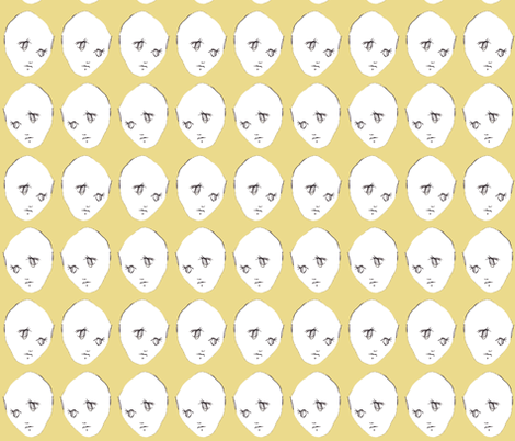 Are You Serious in Yellow fabric by sparegus on Spoonflower - custom fabric