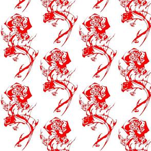 Inkblot Red Roses