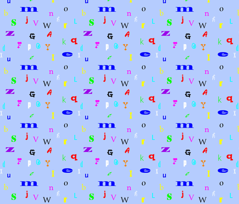 Alphabet fabric by skcollective on Spoonflower - custom fabric