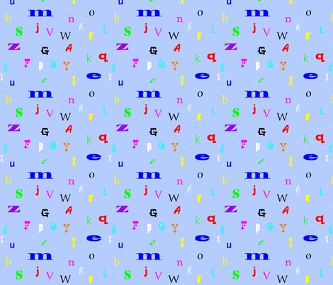 Alphabet fabric by skcollective on Spoonflower - custom fabric