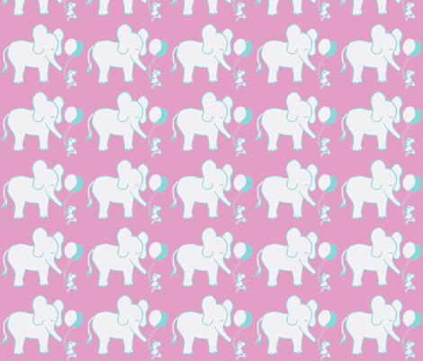 LARGE SCALE Let's be Friends in Candy Pink and Aqua fabric by kbexquisites on Spoonflower - custom fabric