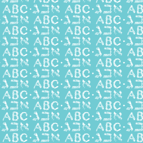Alphabet : Aleph Bet fabric by tobylou on Spoonflower - custom fabric