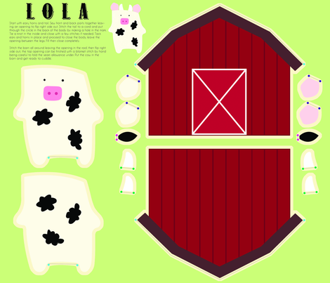 Lola  fabric by angel_mio on Spoonflower - custom fabric