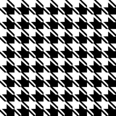 black white houndstooth fabric by mojiarts on Spoonflower - custom fabric
