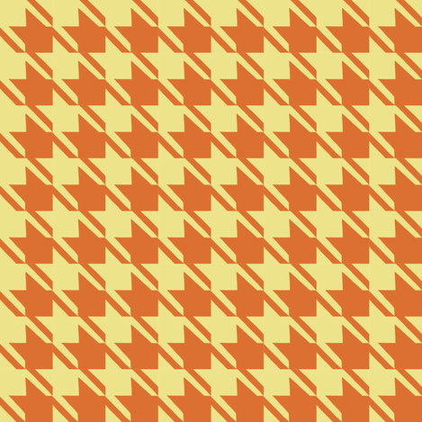 melon burnt orange houndstooth fabric by mojiarts on Spoonflower - custom fabric