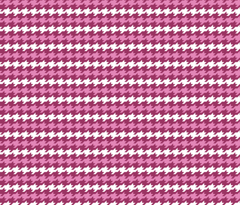 Houndstooth stripes - Berry, dusty pink and white fabric by little_fish on Spoonflower - custom fabric
