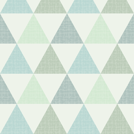 Textured Triangles Blue Green fabric by kimsa on Spoonflower - custom fabric