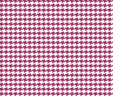 Houndstooth - Berry and white fabric by little_fish on Spoonflower - custom fabric
