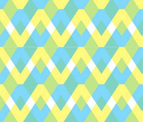 blue fabric by pocu on Spoonflower - custom fabric