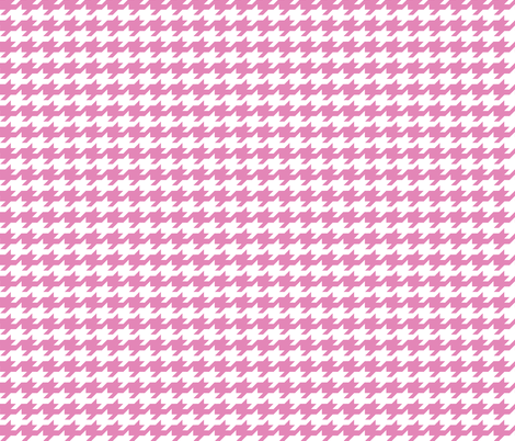 Houndstooth - Dusty pink and white fabric by little_fish on Spoonflower - custom fabric