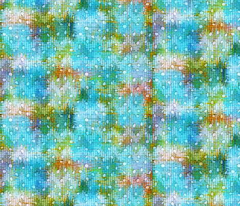 sketch_texture_ikat_burnout_dots blue fabric by glimmericks on Spoonflower - custom fabric
