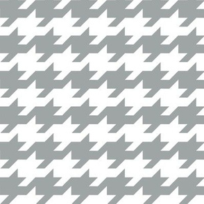 Houndstooth - grey and white