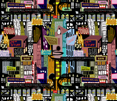 Midcentury City fabric by scottsherwood on Spoonflower - custom fabric