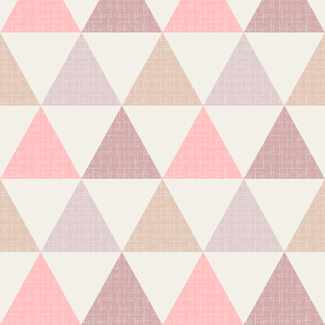 Textured Triangles Pink fabric by kimsa on Spoonflower - custom fabric