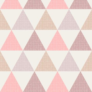 Textured Triangles Pink