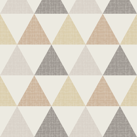 Textured Triangles Brown fabric by kimsa on Spoonflower - custom fabric