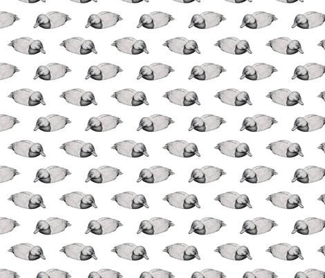 Duck in Grey fabric by jenniferpitchers on Spoonflower - custom fabric