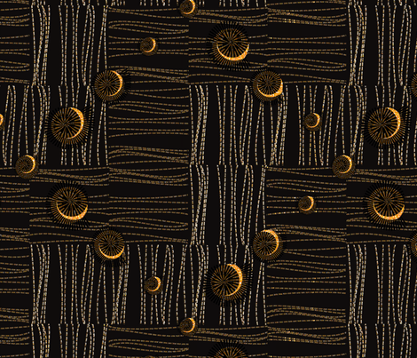 African Beach hut fabric by motiver on Spoonflower - custom fabric