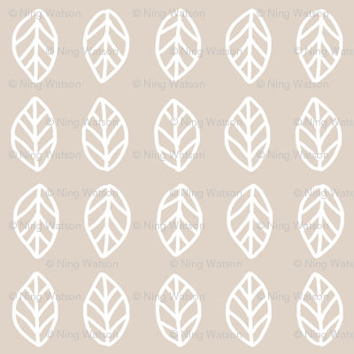 Leaves - Beige