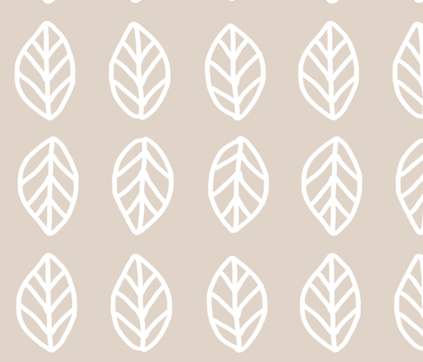 Leaves - Beige fabric by studio_ggc on Spoonflower - custom fabric