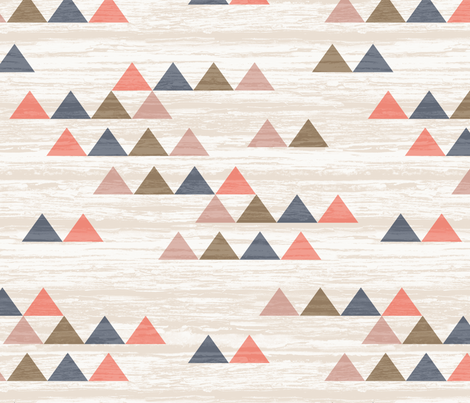 Weathered Triangles fabric by kimsa on Spoonflower - custom fabric